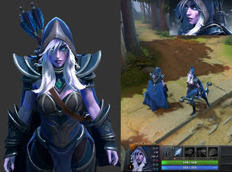 Drow Ranger Model Update By Dimensionaldrift On Deviantart