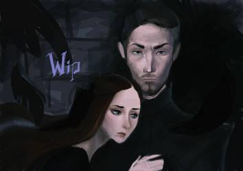 Petyr and Sansa by MKorshun