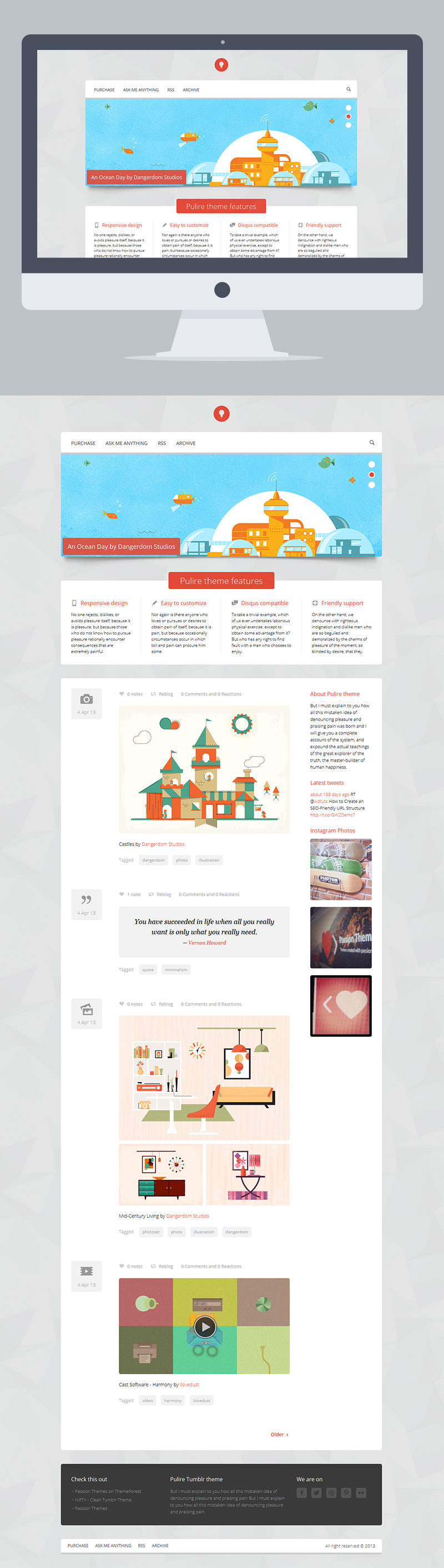 PULIRE - Responsive Multipurpose Tumblr Theme by PassionThemes