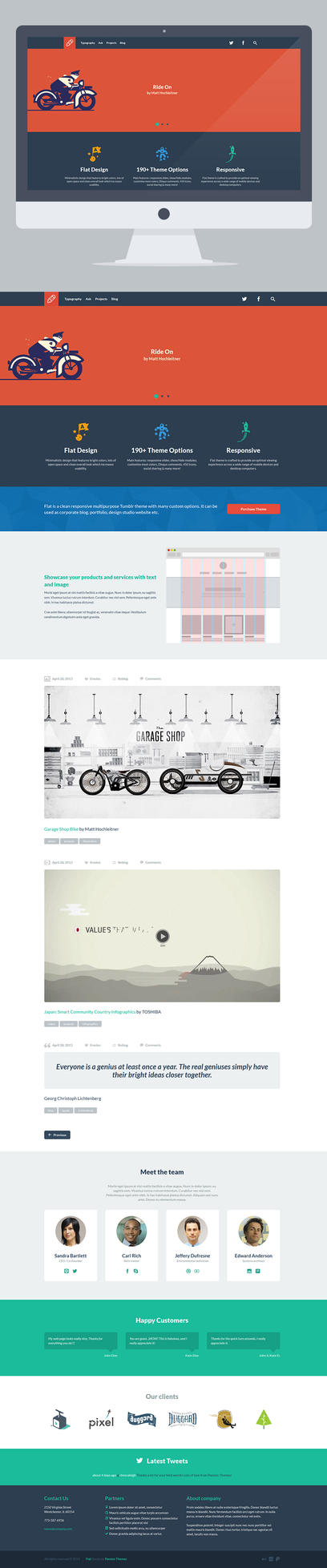 FLAT - Responsive Business Tumblr Theme by PassionThemes
