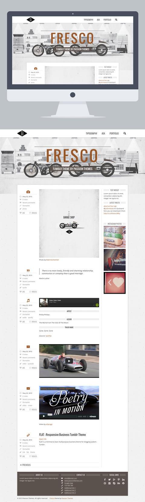 FRESCO - Responsive Multipurpose Tumblr Theme by PassionThemes