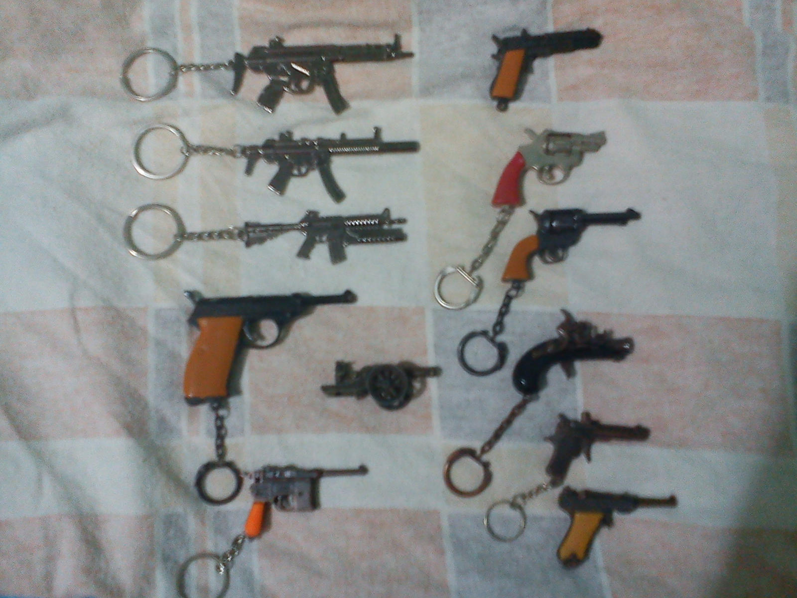 My keychains guns collection by 96blackarrow