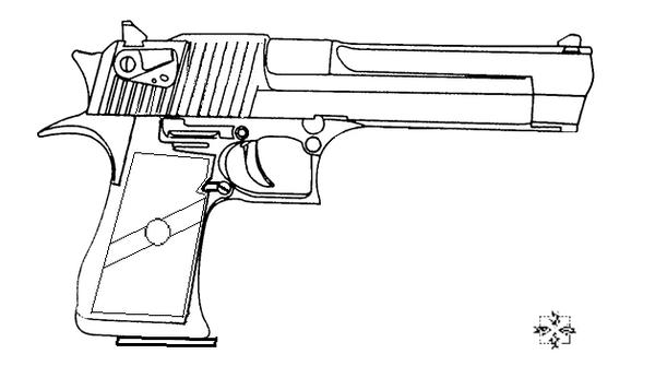 Desert Eagle (pistol base) by 96blackarrow