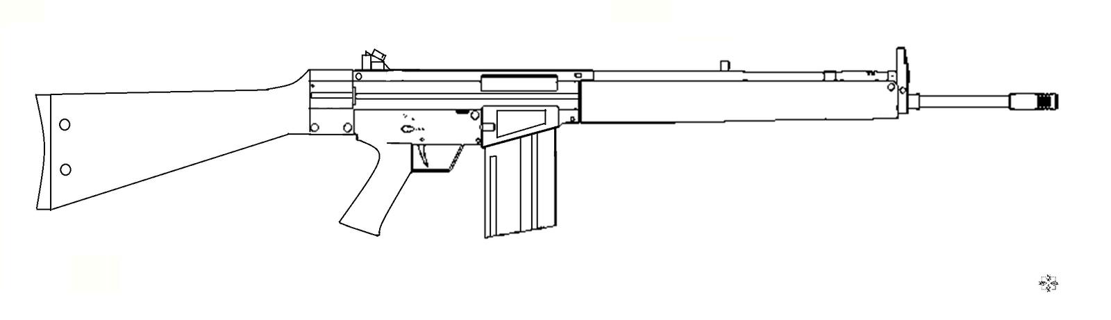 Line Art Gun : Hk g rifle base by blackarrow on deviantart
