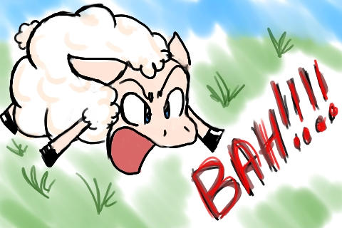 angry sheep by  meicailya on deviantart