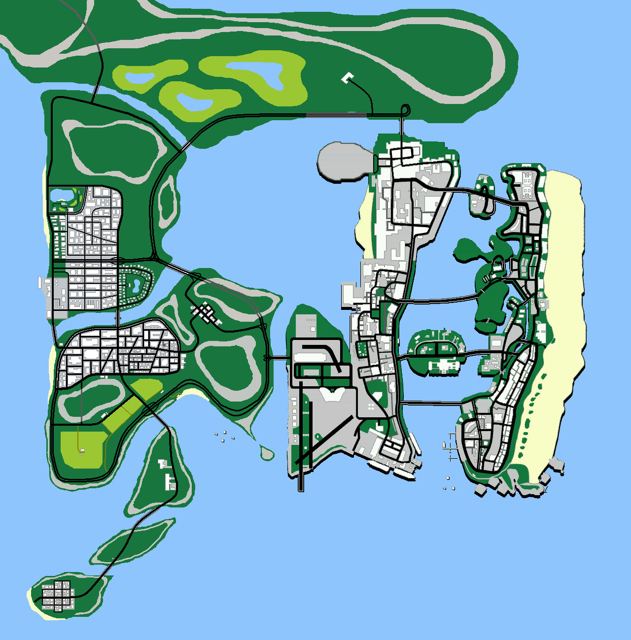 GTA Vice City  Extended Map by gdn001 on DeviantArt