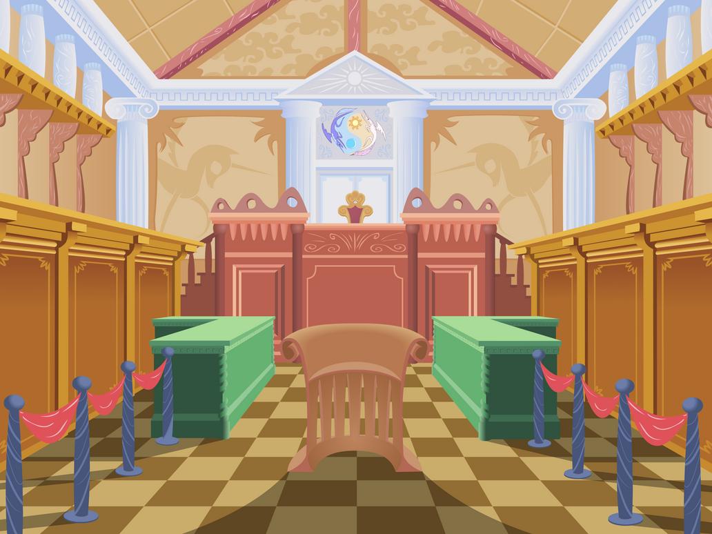 MLP FiM - Courtroom by sigmavirus1