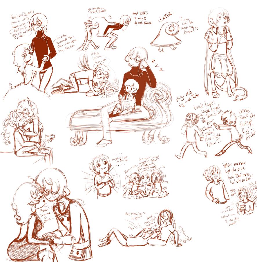 Sketch Dump 2 by MissPomp