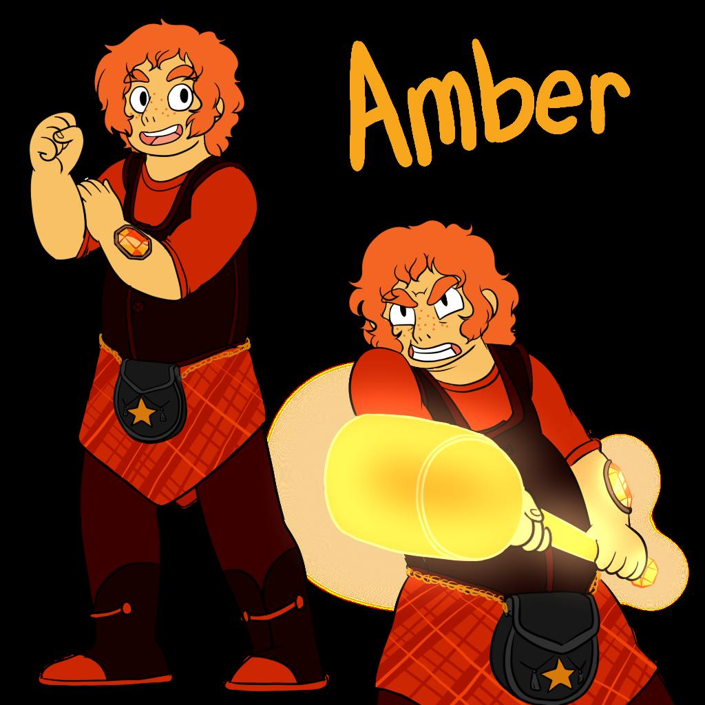 Steven Universe FanOC- Amber by MissPompSteven Universe Redesign