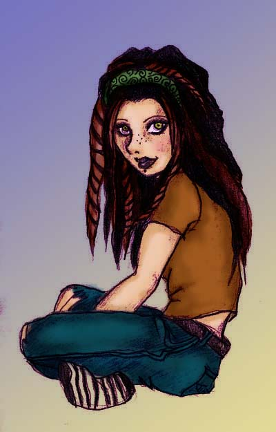 Dreadlock Girl Digital by xXhotaruXx on DeviantArt