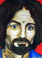 Another Charle Manson Painting by serialkillercalendar