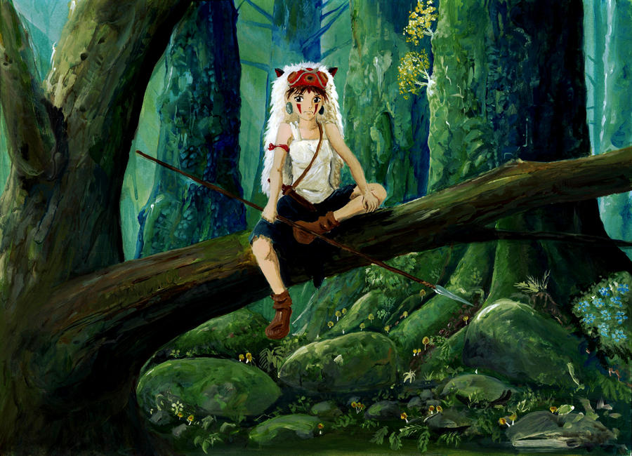 San - Princess Mononoke by Vinkerlid on DeviantArt