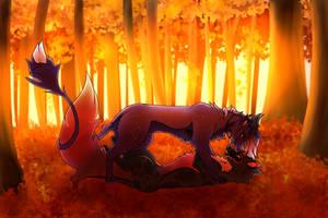 Fall Flirting by Crywolf130