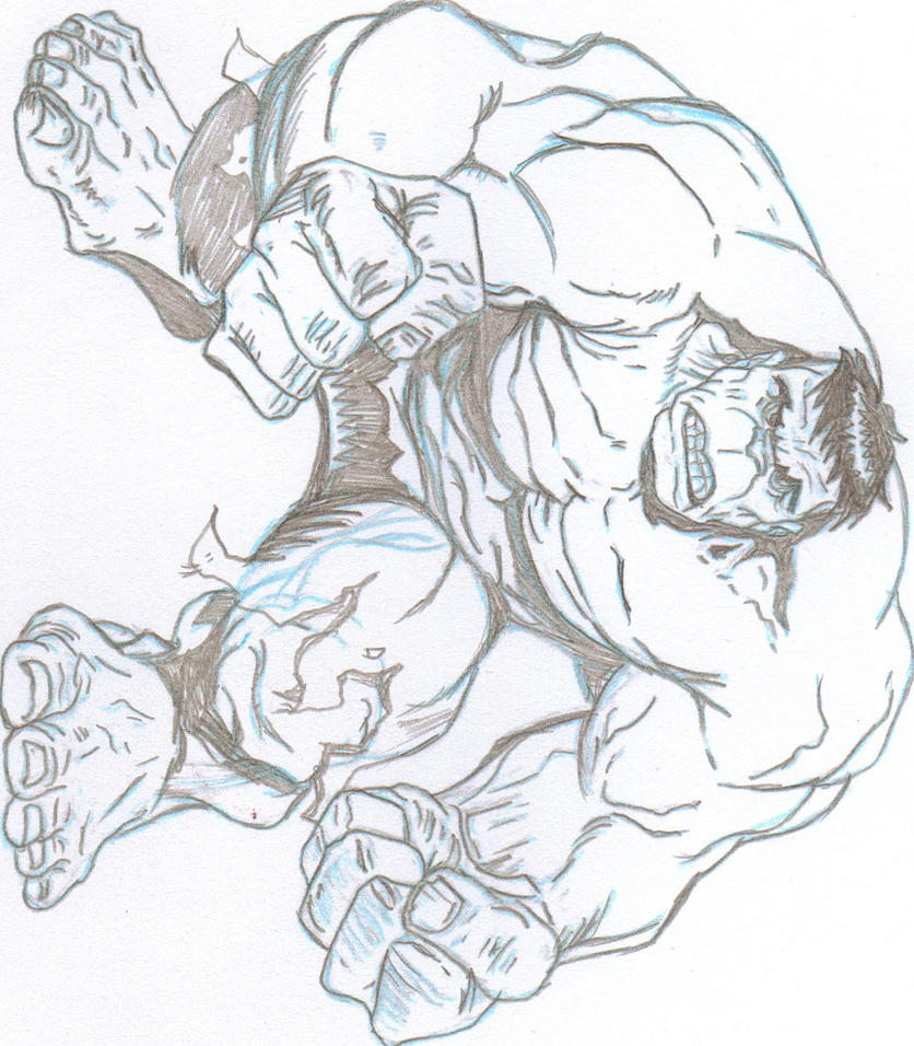 Hulk Bilder Zum Ausmalen: The Hulk Sketch By Rschell On DeviantArt