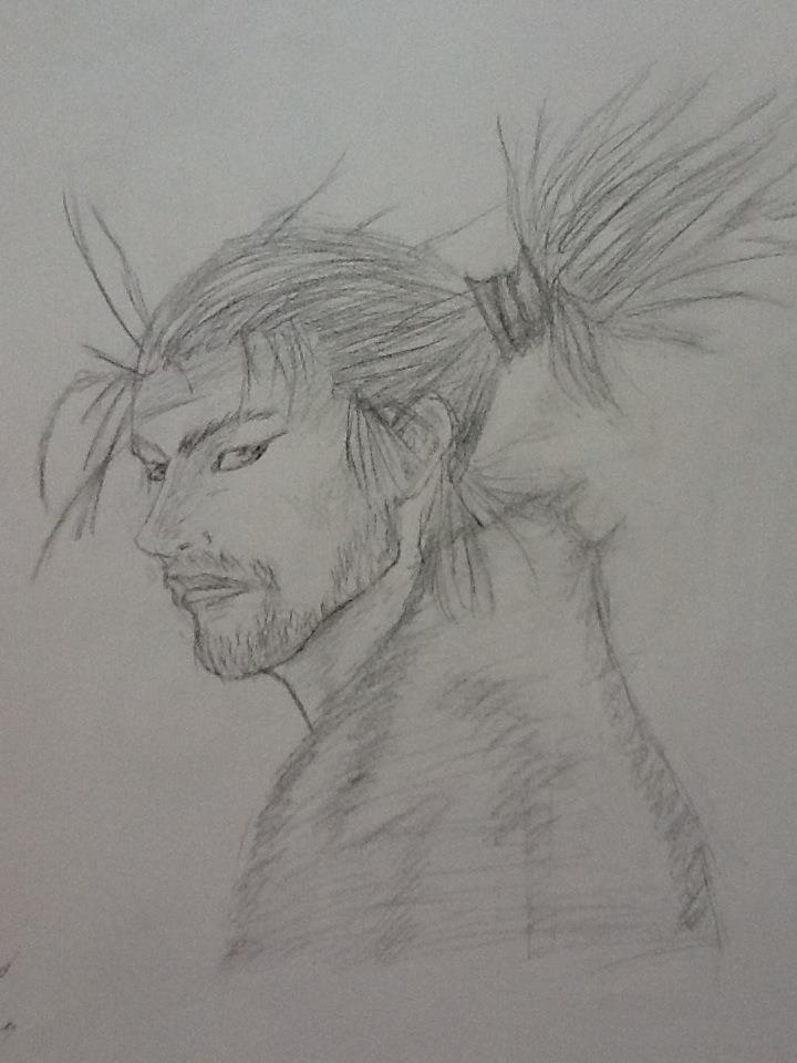 Miyamoto Musashi (Vagabond) by Draw4fun2