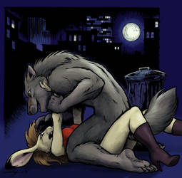 Werewolf Assault in Color by Dustmeat