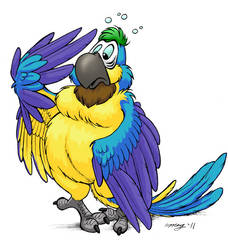 Macaw Commission by Dustmeat