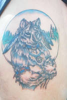 Dire Wolf Tattoo by Dustmeat