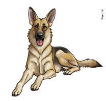 German Shepherd for Steelhelix by Dustmeat