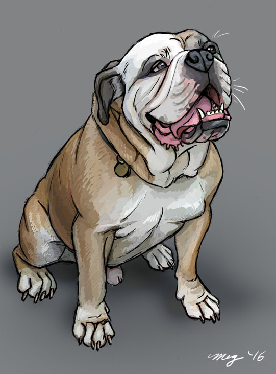 Kampyer the Bulldog by Dustmeat
