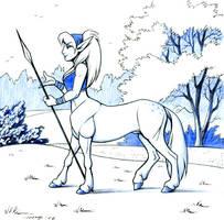 Pony Centauress by Dustmeat