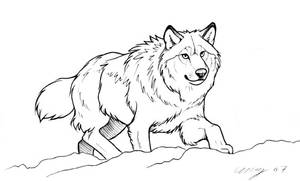 Snow Wolf by Dustmeat