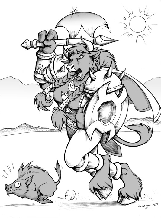 A Tauren named Nelena by Dustmeat