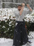 Snowfall samurai