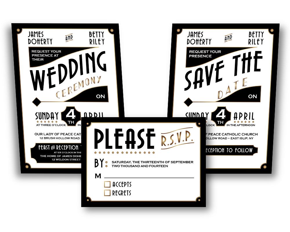 Art deco wedding invitation design etsy by cfergodesigns on art deco wedding invitation design etsy by cfergodesigns stopboris Image collections