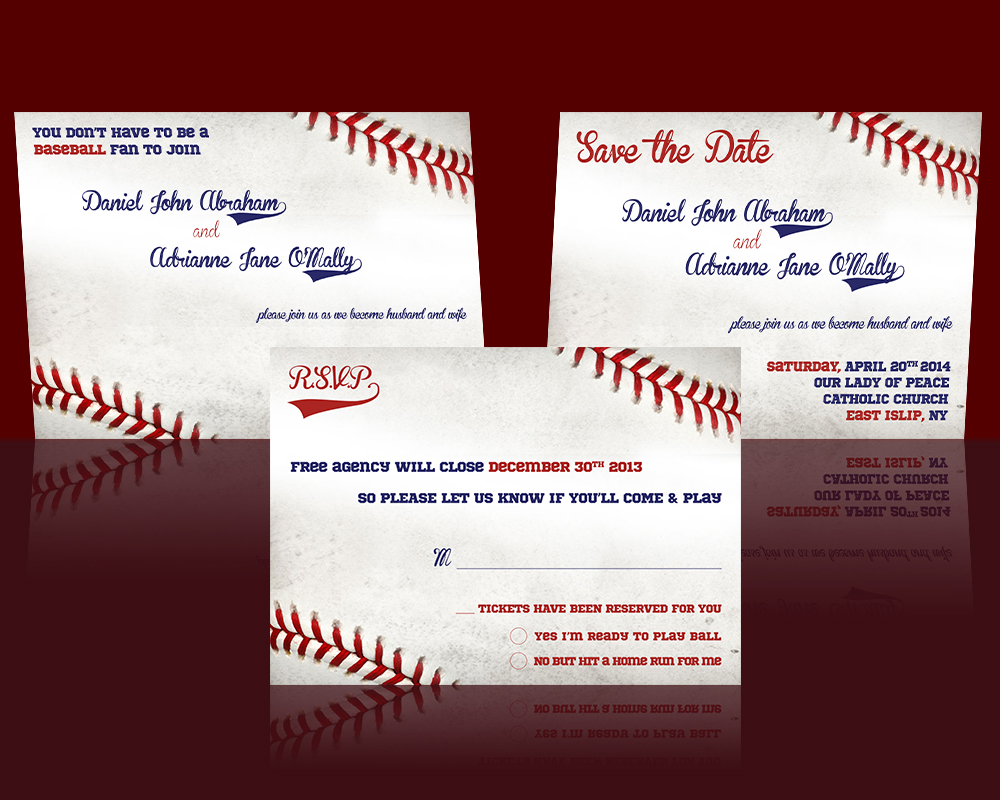 Baseball Wedding Invitation design from Etsy by cfergodesigns on