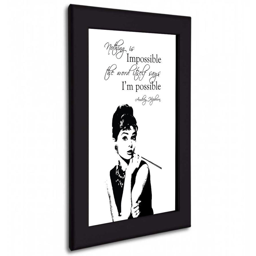 audrey hepburn inspirational poster by cfergodesigns on deviantart. Black Bedroom Furniture Sets. Home Design Ideas