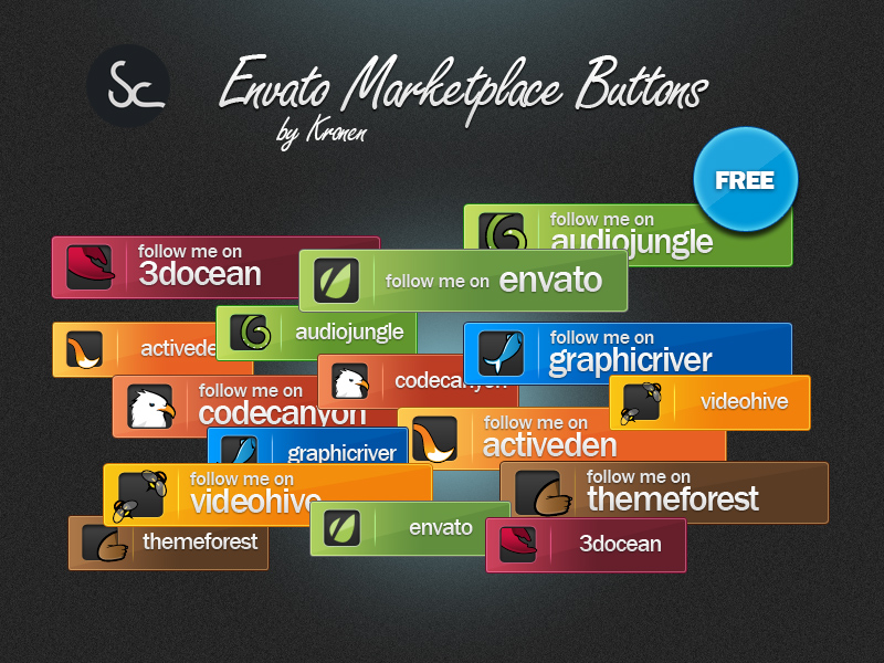 Envato Marketplace Buttons by KronenDesign