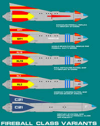 Fireball XL5 Spacecraft Variants by ArthurTwosheds