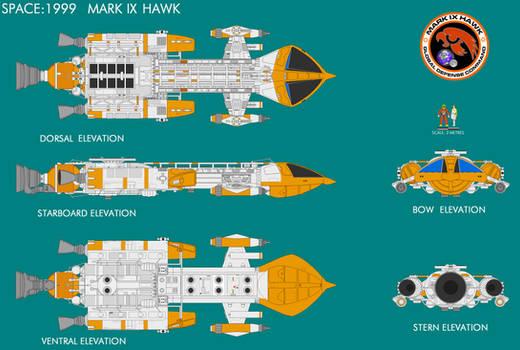 Gerry Andersons Space 1999 Mk IX Hawk