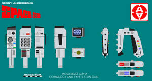 Gerry Andersons Space 1999 Commlock and Stun G by ArthurTwosheds