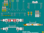 Space 1999 Eagle Hanger Equipment