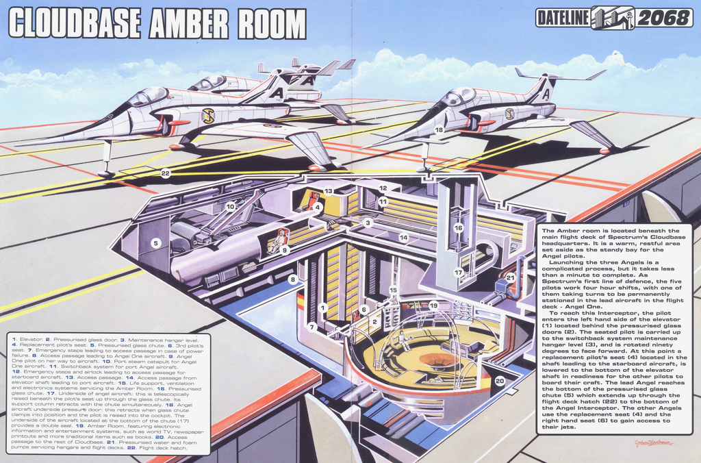 Superb Captain Scarlet Cloudbase Amber Room By ArthurTwosheds ...
