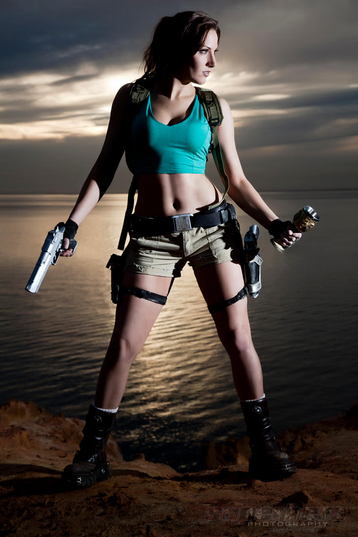 Lara Croft - Sunset Shoot - Series 2 by MrAdamJay