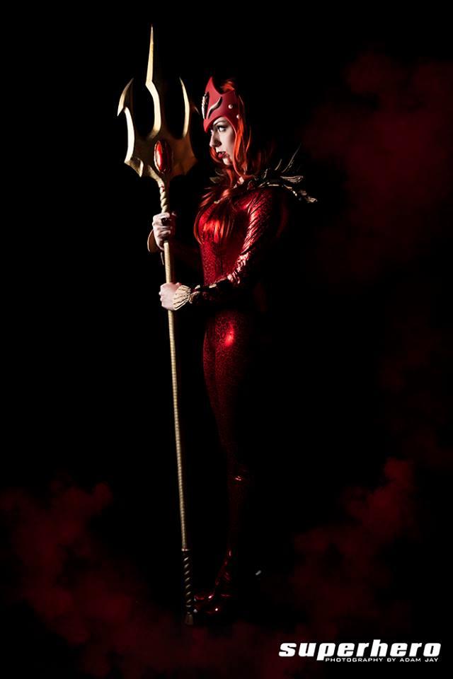 Red Lantern Mera by MrAdamJay