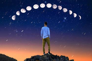 Wonder sky , digital art