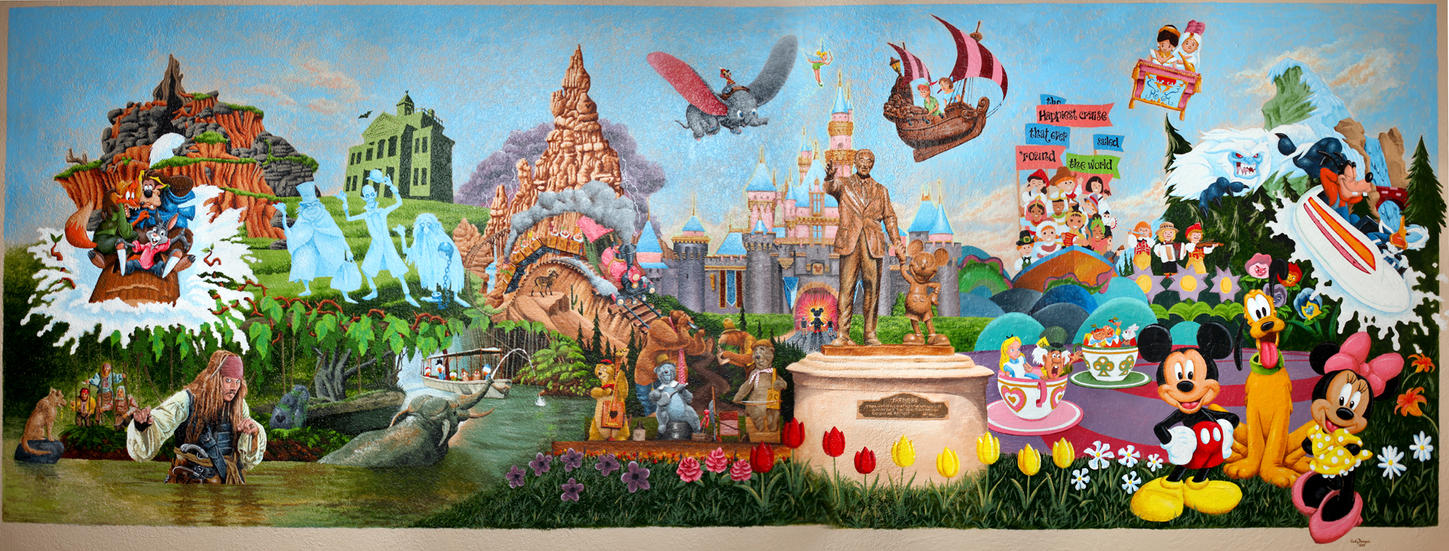 Disneyland wall by kyroneus on deviantart for Disneyland mural
