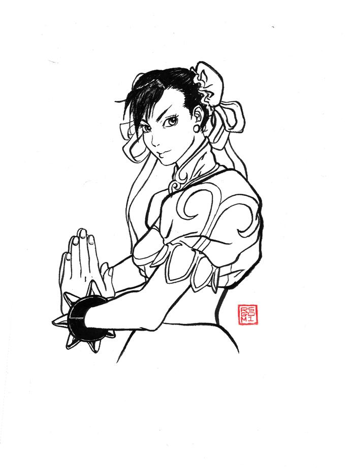 Brush Pen CHUN LI by rgm501