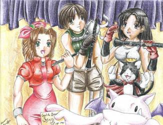 Final Fantasy VII Wind Trio by Eeveegou
