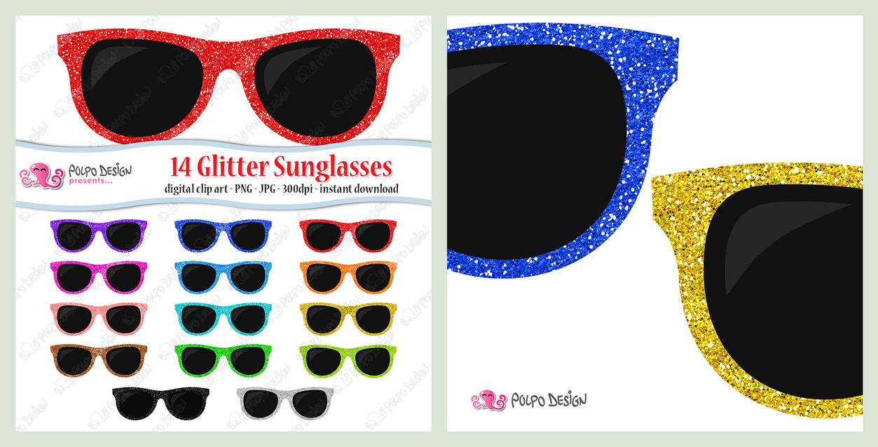 glasses personal use clip art Rainbow Glasses Clipart Set small commercial use rainbow glasses reading glasses instant download