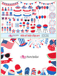4th of July clipart by PolpoDesign