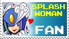 Splashwoman Stamp by Ticktank