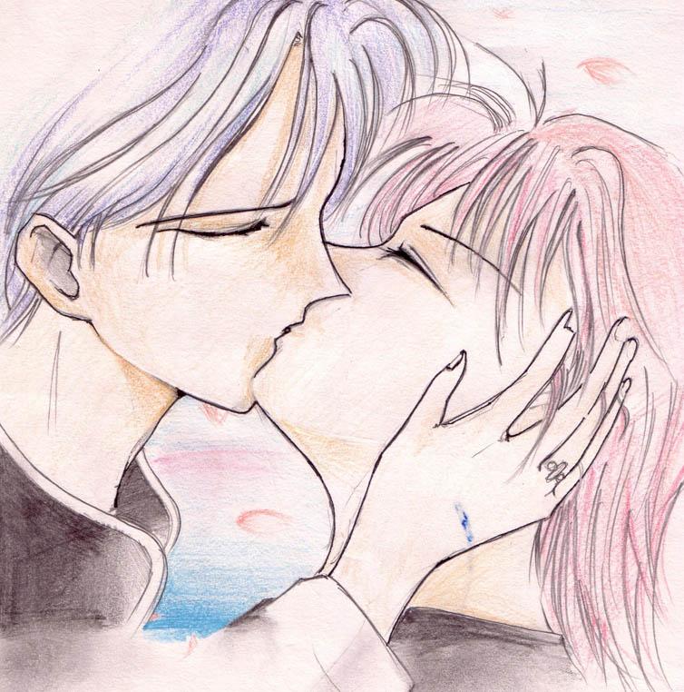 Foto Kartun Ciuman