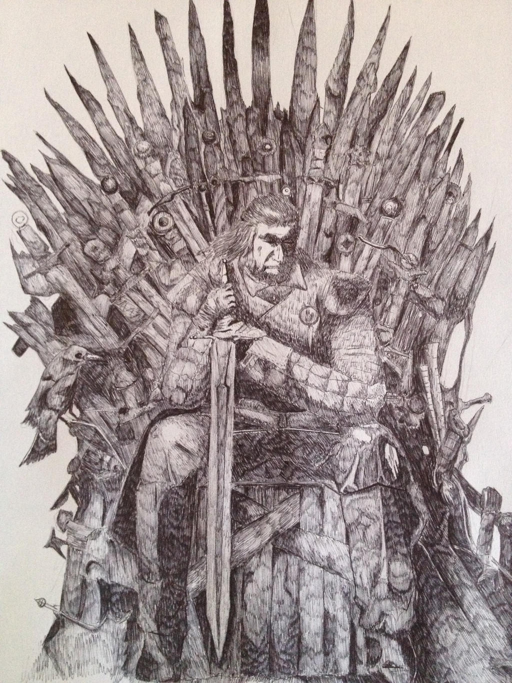 The iron throne by lollingtroll on deviantart for Iron throne painting