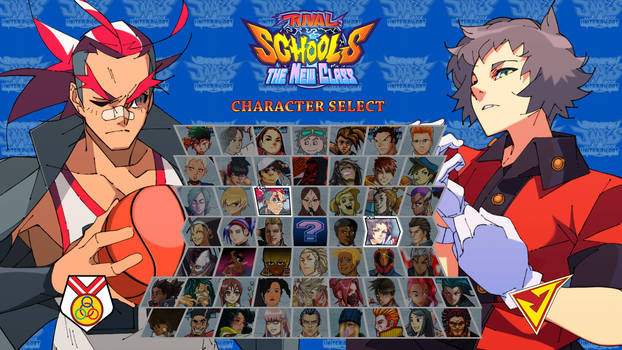 Rival School Jam - Character Select