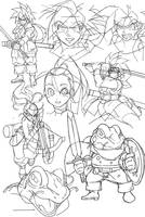 Chrono sketches by Nisego
